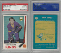 1969 O-Pee-Chee Hockey, #141 Skip Krake, Kings, PSA 9 Mint