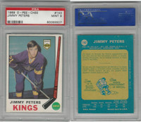 1969 O-Pee-Chee Hockey, #143 Jimmy Peters, Kings, PSA 9 Mint