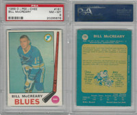 1969 O-Pee-Chee Hockey, #181 Bill McCreary, Blues, PSA 8 NMMT