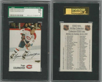1988 Esso NHL Hockey, Yvan Cournoyer, Canadiens, SGC 96 Mint