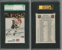 1988 Esso NHL Hockey, Yvan Cournoyer, Canadiens, SGC 98 Gem