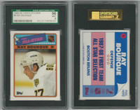 1988 Topps Hockey Stickers, #5 Ray Bourque HOF, Bruins, SGC 96 Mint