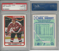 1990 O-Pee-Chee Hockey, #188 Neil Sheehy, Capitals, PSA 10 Gem