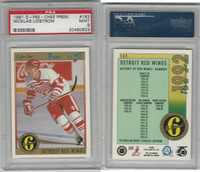 1991 O-Pee-Chee Prem. Hockey, #163 Nicklas Lidstrom RC, PSA 9 Mint