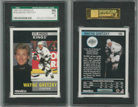 1991 Pinnacle Hockey, #100 Wayne Gretzky HOF, Kings, SGC 96 Mint