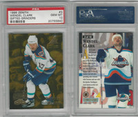 1995 Pinnacle Zenith Hockey, #3 Wendel Clark, Islanders, PSA 10 Gem