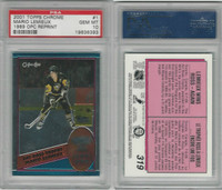 2001 Topps Chrome Hockey, #1 Mario Lemieux HOF, Penguins, PSA 10 Gem