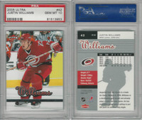 2005 Fleer Ultra Hockey, #42 Justin Williams, Carolina, PSA 10 Gem