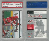 2005 Fleer Ultra Hockey, #44 Oleg Tverdovsky, Carolina, PSA 10 Gem