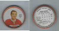 1961 Shirriff Coins Hockey, #37 Dickie Moore HOF, Montreal Canadiens