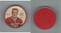 1961 Shirriff Coins Hockey, #105 Claude Provost, Montreal Canadiens