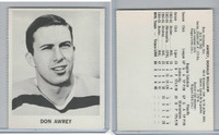 1965 Coca Cola Hockey, Don Awrey, Boston Bruins
