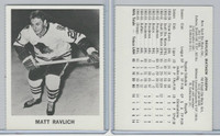 1965 Coca Cola Hockey, Matt Ravlich, Chicago Black Hawks