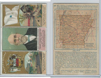 N133 Duke, State Governors, Coats of Arms Tri-Fold, 1888, Arkansas