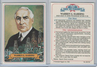 1984 Campbell Taggart, Know The Presidents, #28 Warren G. Harding
