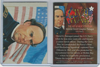 1996 Mort Kunstler, Civil War, #21 Admiral David G. Farragut, US Navy