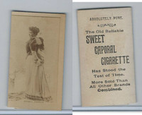 N245 Sweet Caporal Cigarette, Actresses, 1890, Mabel Amber