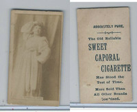 N245 Sweet Caporal Cigarette, Actresses, 1890, Isabelle Coe