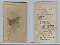 N245 Sweet Caporal Cigarette, Actresses, 1890, Fannie Rice