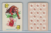 1967 Ed-U Cards, Flintstones Mini Card, #4 Saber-Toothed Tiger, Yellow