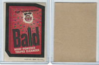 1973 Topps, Wacky Packs, 4th Series, Bald Cleanser