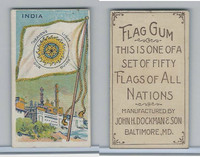 E18-1C John Dockman, Flag Chewing Gum, 1910, India