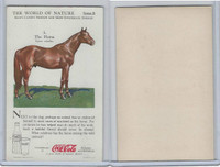 F213-3 Coca Cola, Nature Study, Mans Friends, 1920's, #3 Horse