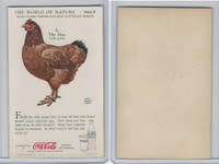 F213-3 Coca Cola, Nature Study, Mans Friends, 1920's, #8 Hen