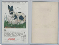 F213-3 Coca Cola, Nature Study, Mans Friends, 1920's, #10 Rabbit