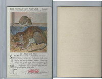F213-3 Coca Cola, Nature Study, Mans Friends, 1920's, #11 Rats & Mice