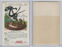 F213-3 Coca Cola, Nature Study, Mans Friends, 1920's, #12 Snakes