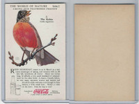 F213-3 Coca Cola, Nature Study, Birds, 1920's, #2 Robin