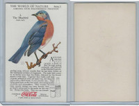 F213-3 Coca Cola, Nature Study, Birds, 1920's, #3 Bluebird