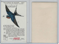 F213-3 Coca Cola, Nature Study, Birds, 1920's, #4 Barn Swallow