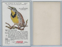 F213-3 Coca Cola, Nature Study, Birds, 1920's, #5 Meadowlark