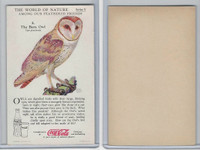 F213-3 Coca Cola, Nature Study, Birds, 1920's, #8 Barn Owl