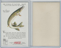 F213-3 Coca Cola, Nature Study, Water Life, 1920's, #3 Pickerel