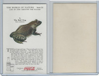 F213-3 Coca Cola, Nature Study, Water Life, 1920's, #10 Toad