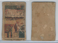 W Card, Strip Card, Universal Comic, 1920's, Pancakes For Breakfast