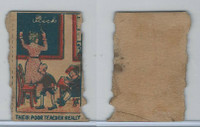 W Card, Strip Card, Universal Comic, 1920's, Their Poor Teacher