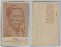 PC Post Card, Groves, Famous American Indian, 1941, #4 Curley
