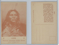 PC Post Card, Groves, Famous American Indian, 1941, #6 Gall