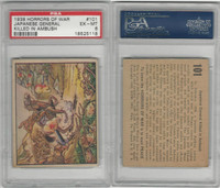 R69 Gum Inc, Horrors of War, 1938, #101 Japanese General Killed, PSA 6 EXMT
