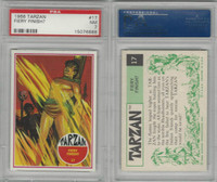 1966 Philadelphia Gum, Tarzan, #17 Fiery Finish?, PSA 7 NM