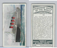 C20 Imperial Tobacco, Merchant Ships, 1924, #19 SS France