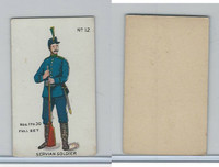 E7 Caramel, Soldier Cards, 1910, #12 Servian Soldier
