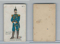 E7 Caramel, Soldier Cards, 1910, #11 Servian General