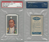 P50-78 Phillips, Red Indians, 1927, #15 Pope Of San Juan, PSA 5 EX