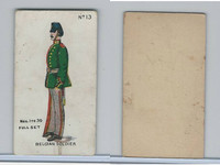 E7 Caramel, Soldier Cards, 1910, #13 Belgian Soldier