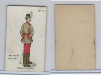 E7 Caramel, Soldier Cards, 1910, #14 Belgian Guard